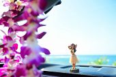 stock photo of hula dancer  - Hawaii travel car  - JPG