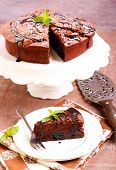 pic of torte  - Prune and chocolate torte slice - JPG