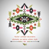 foto of nativity  - Vector decorative element in native ethnic style - JPG