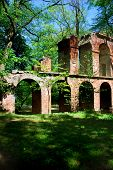 picture of aqueduct  - Aqueduct ruins in the park in Arcadia near Lowicza  - JPG