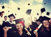 image of graduation  - Students Graduation Success Achievement Celebration Happiness Concept - JPG