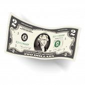 foto of two dollar bill  - A Detailed - JPG