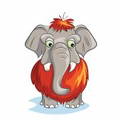 foto of mammoth  - vector Cartoon image of a baby mammoth - JPG