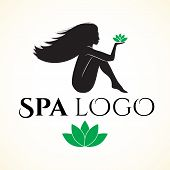 stock photo of black woman spa  - Logo for spa or beauty salon - JPG