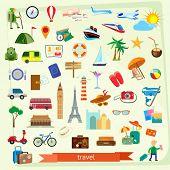 pic of bon voyage  - Travel icon set - JPG
