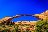 image of arch  - Landscape Arch in Arches National Park Utah  - JPG