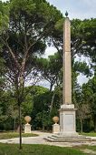 picture of obelisk  - The obelisk in Villa Celimontana  - JPG