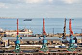 Постер, плакат: The Port Of Baku Azerbaijan Caspian Sea