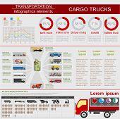 foto of lorries  - Cargo transportation infographics - JPG