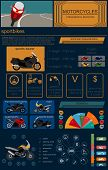 foto of dragster  - Set of motorcycles elements transportation infographics - JPG