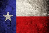 stock photo of texas state flag  - Texas State Flag painted on wood background - JPG