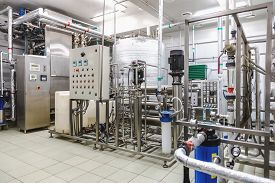 pic of pharmaceuticals  - Water conditioning room and control way equipment on pharmaceutical industry or chemical plant - JPG