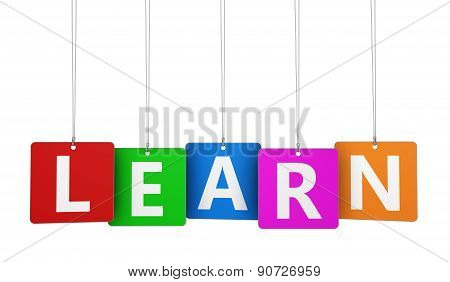 Learn Sign Colorful Tags