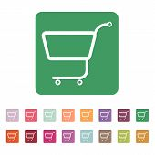 image of cart  - The shopping cart icon - JPG