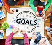 pic of encouraging  - Goal Aspiration Expectation Encourage Dreams Concept - JPG