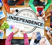 picture of independent woman  - Independence Liberty Peace Self Control Concept - JPG