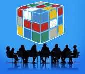 picture of cube  - Puzzle Cube Game Cube Shape Intelligence Concept - JPG