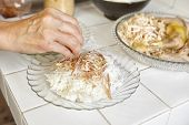 stock photo of chickens  - Food preparation for soto - JPG
