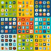 foto of exposition  - Set of Christmas icons for Web and Mobile Applications - JPG