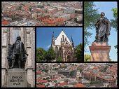 foto of leipzig  - Landmarks collage of the city of Leipzig Germany - JPG