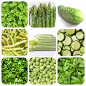 picture of mint-green  - Vegetarian food collage - JPG