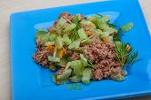 pic of celery  - Tuna and celery salad with dill and capers - JPG