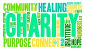 stock photo of word charity  - Charity word cloud on a white background - JPG