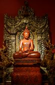 stock photo of carving  - Buddha carved wood at temple in Thailand - JPG