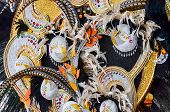 foto of venice carnival  - Traditional Carnival Venice mask with Colorful Decoration - JPG