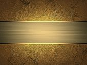 picture of ribbon decoration  - Grunge gold texture with gold divorce with gold ribbon - JPG
