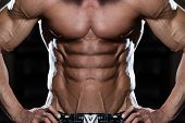 stock photo of physique  - Close Up Of A Perfect Abs  - JPG