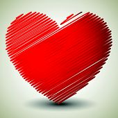 foto of scrabble  - Vector graphics with red heart - JPG