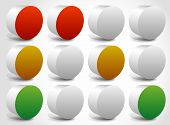 stock photo of traffic rules  - Set of abstract traffic lights traffic lamps - JPG