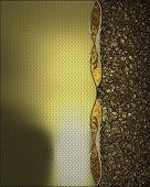 stock photo of gold  - Gold texture with gold trim and gold sand - JPG