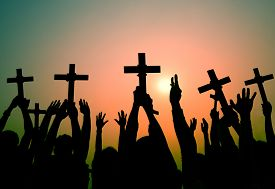 foto of christianity  - Hands Holding Cross Christianity Religion Faith Concept - JPG