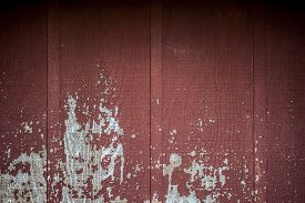 picture of red siding  - Old rustic weathered red barn wall in the country - JPG