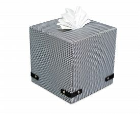 foto of tissue box  - Modern tissue boxed isolate on white with clipping path - JPG