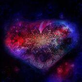 Постер, плакат: space heart