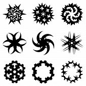 ������, ������: Set of the abstract spiral signs