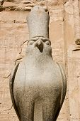 picture of horus  - Ancient Egyptian granite statue of the hawk god Horus - JPG