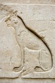 image of bastet  - Ancient Egyptian carving of the cat - JPG