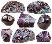 Постер, плакат: Garnet almandine Tumbled Gemstones And Rocks