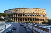 Colosseum, World Famous Landmark In Rome, Italy. Colosseum Is Largest Ancient Roman Amphitheater poster