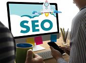 Local Seo Concept Business Team Hands At Work With Financial Reports Links Global Hyperlink Search E poster