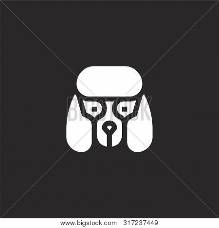 poster of Dogs Icon. Dogs Icon Vector Flat Illustration For Graphic And Web Design Isolated On Black Backgroun