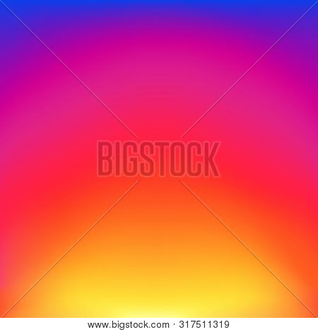poster of Abstract Blurred Gradient Background With Glow Blue, Red, Purple And Yellow Color. Trendy Vibrant Ar