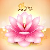 foto of wesak day  - Vector Lotus Oil Lamp - JPG