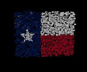 stock photo of texans  - Texan flag on blocks illustration - JPG