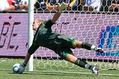 CARSON, CA. - July 24: Manchester City FC G Joe Hart #25 during the World Football Challenge game on