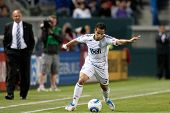 CARSON, CA. - JUNE 1: Vancouver Whitecaps FC F Camilo #37 during the MLS game between Vancouver Whit